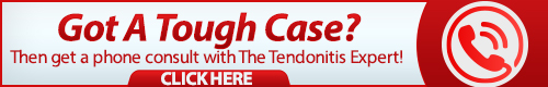 tendonitis expert phone consult banner graphic