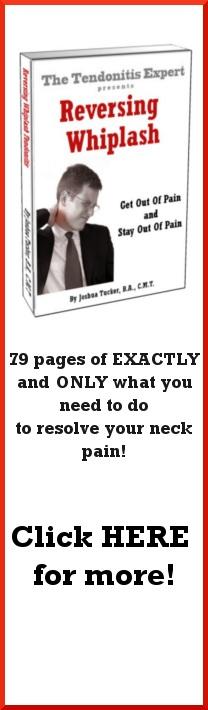 Reversing Whiplash neck tendonitis ebook cover
