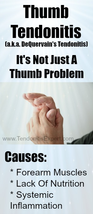 Thumb Tendonitis page graphic