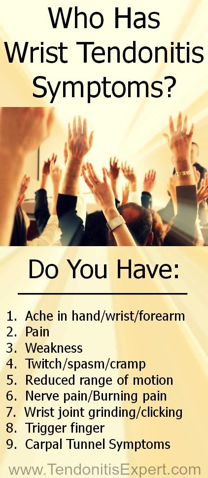 Who Has Wrist Tendonitis Symptoms