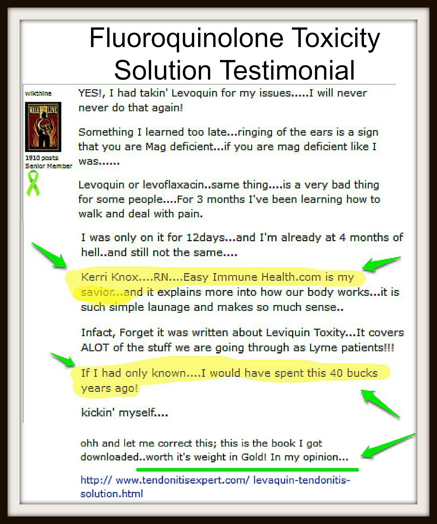 LEVAQUIN TENDONITIS SOLUTION PDF