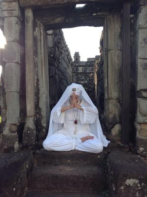 Yoga at the Cambodian temples