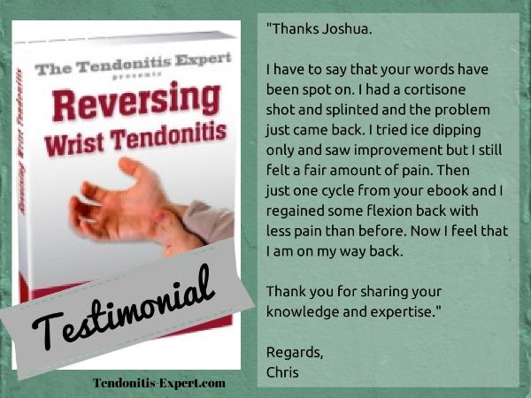 Reversing Wrist Tendonitis Ebook Testimonial