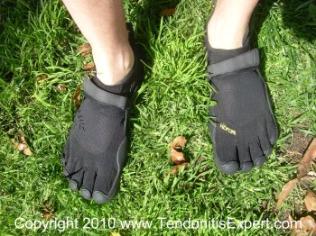 vibram fivefingers kso barefoot running shoes on grass picture