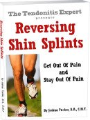 reversing shin splints tendonitis ebook cover graphic