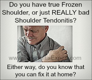 Home treatment for frozen shoulder